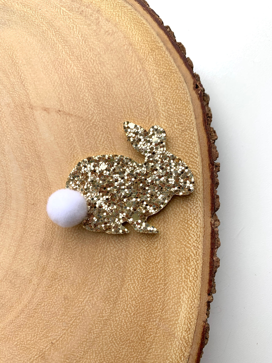 Glitter Easter Bunnies (Clip or headband)