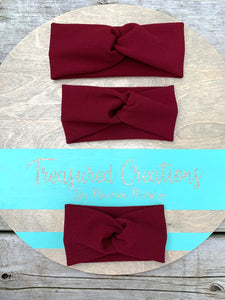 Burgundy Twist Headwraps