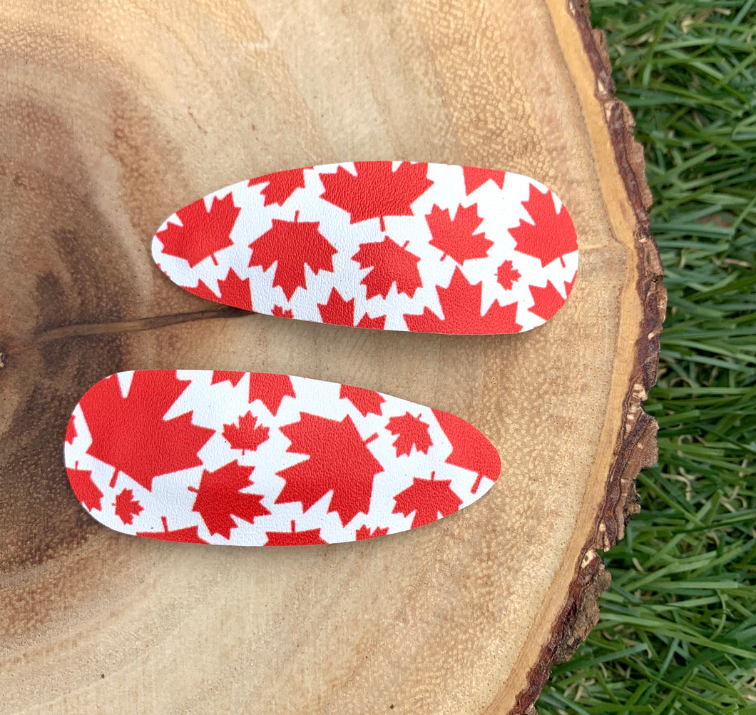Maple Leaf Snap Clips
