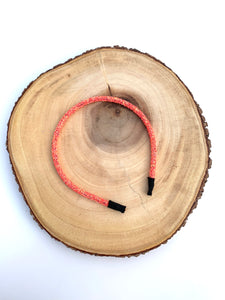 Sun kissed Coral Chunky Glitter Headband