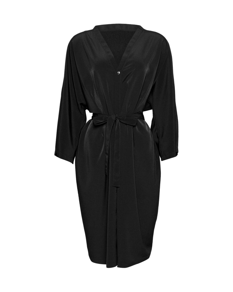 Black Premium Unisex Peachskin Client Robes