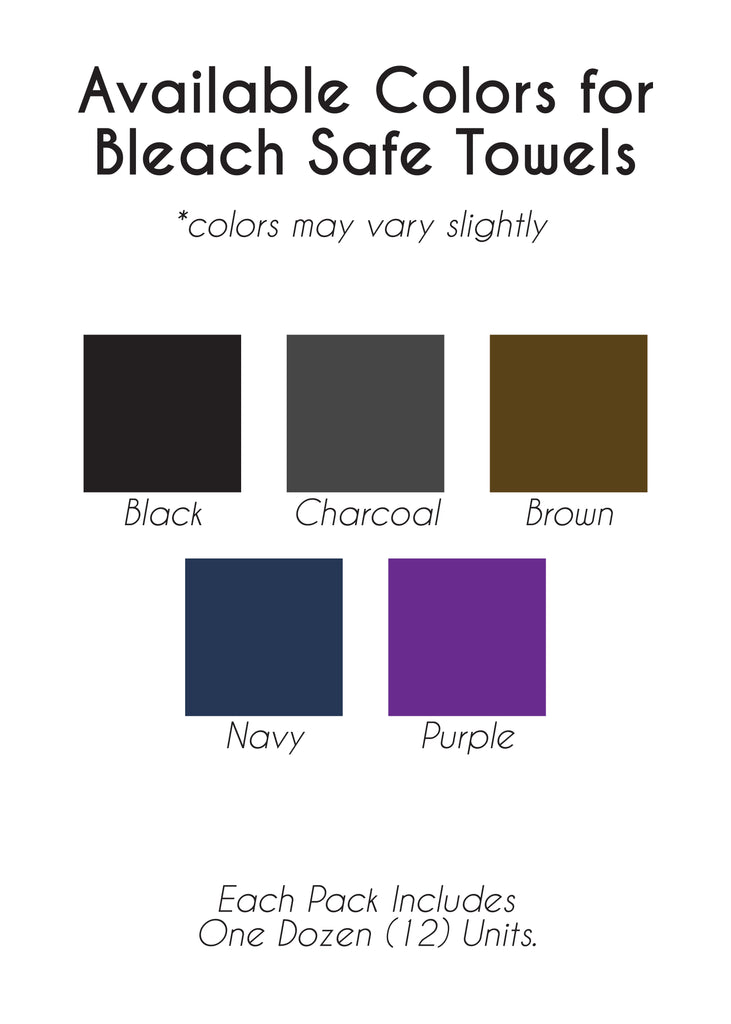 Bleach Safe Salon Towels (Set of 12) - Multiple Color Ways