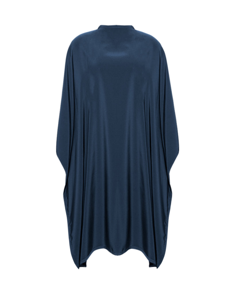 Navy Premium Peachskin Cutting Cape