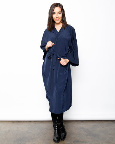 Navy Blue Premium Unisex Peachskin Client Robes