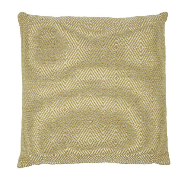 recycled plastic wool feel cushion pillow interior design soft furnishings accessories gooseberry yellow