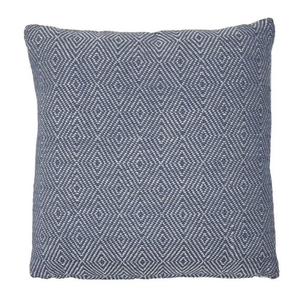 recycled plastic wool feel cushion pillow interior design soft furnishings accessories navy blue