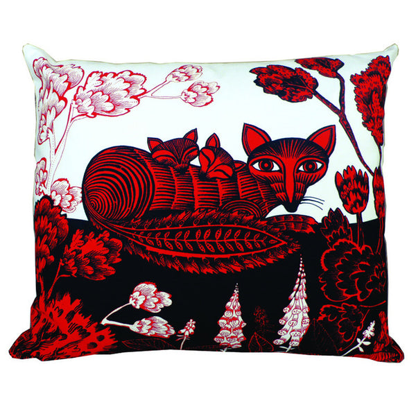cushion fox cubs pillow design home interior design foxes soft furnishing