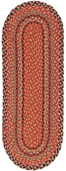 red black chilli colour colourful jute organic eco friendly table runner braided rug natural