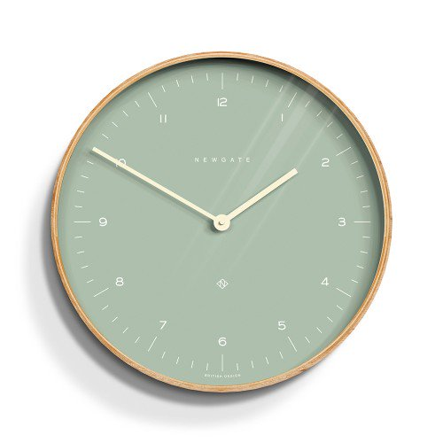 Mr Clarke Pale Wall Clock Green Face-53cm