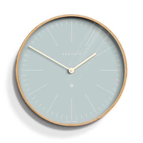 Mr Clarke Pale Wall Clock Blue Face-53cm