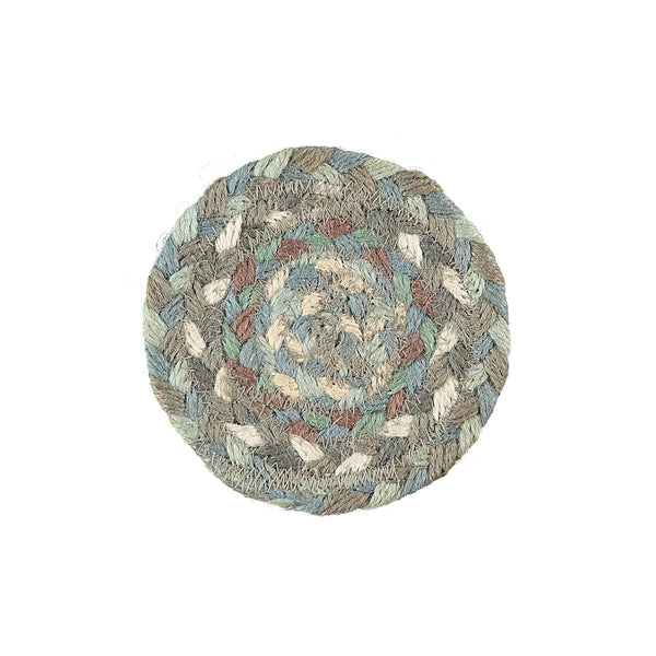Braided Rug Organic Jute Coasters - Seaspray