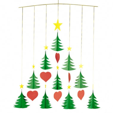 christmas tree mobile xmas gift tree danish design