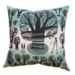 Winter Trees Cushion - Teal