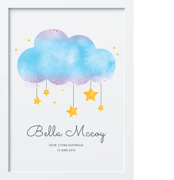 ClOUD AND STARS BIRTH POSTER