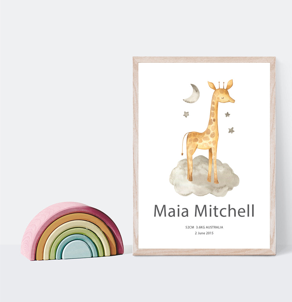 GIRAFFE BIRTH POSTER