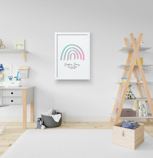 RAINBOW BIRTH POSTER