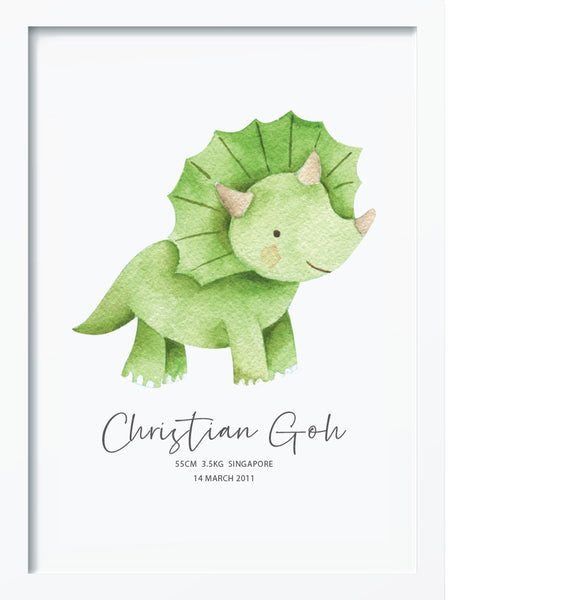 Triceratops BIRTH POSTER