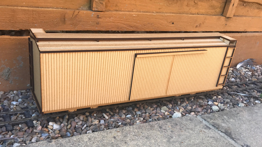 16mm Scale Sandy River and Rangeley Lakes Railroad Box Car 120-157