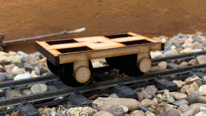 16mm Scale Bowaters Paper Railway Early Wooden Bogie