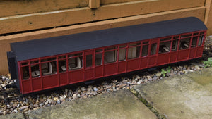 16mm Scale Ffestiniog Railway All 3rd Coach No.105