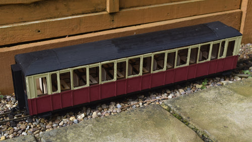 16mm Scale Ffestiniog Railway All 3rd Coach No.110