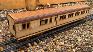 1::32 Scale SECR Continental 5 Compartment Saloon 1st Class Brake Coach