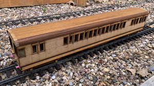 1:32 Scale SECR C Type Lavatory Brake Composite Coach - Push Pull Conversion