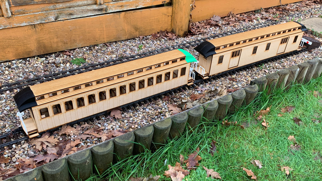 16mm Scale Bridgton and Saco River Railroad Passenger Car Multipack
