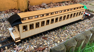 16mm scale Bridgton and Saco River Railroad Coach 15/16