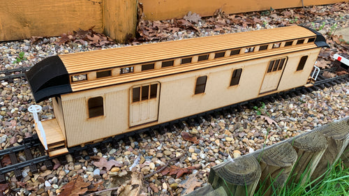 16mm scale Bridgton and Saco River Railroad Baggage Coach 31
