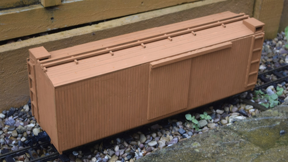 16mm Scale Sandy River and Rangeley Lakes Railroad Box Car 55-58