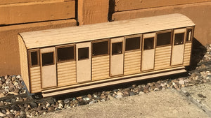 16mm Scale Chattenden and Upnor Railway Coach 204