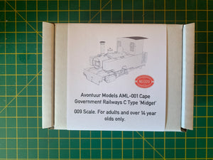 4mm Scale Cape Government Railways C Type 'Midget'