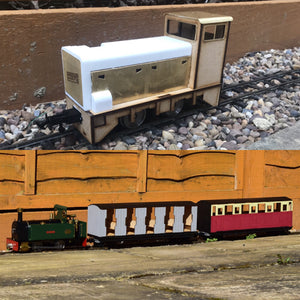 16mm Scale RNAD Diesel Chattenden Passenger Train pack