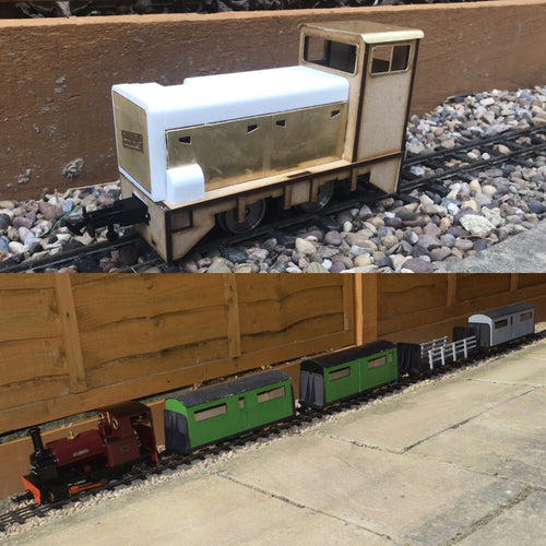16mm Scale RNAD Diesel Bowaters Passenger Train pack