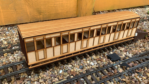 15mm Scale Isle of Man Railway 1876 Brown Marshall 'Small F' Guards Coach