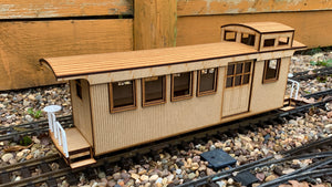 16mm Scale Sandy River and Rangeley Lakes Railroad Caboose 557