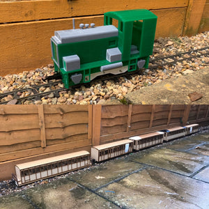 16mm Scale Upnor Castle Heritage Train Pack