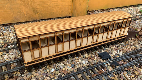 15mm Scale Isle of Man Railway 1881 Brown Marshall 'Small F' Non Guards Coach