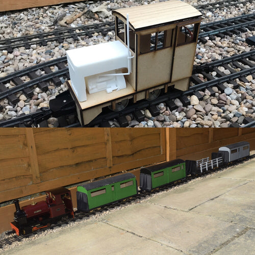 16mm Scale Bowaters Paper Railway Victor Passenger Train pack