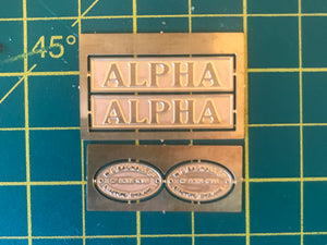 16mm Scale Bowaters Paper Railway Nameplate Set