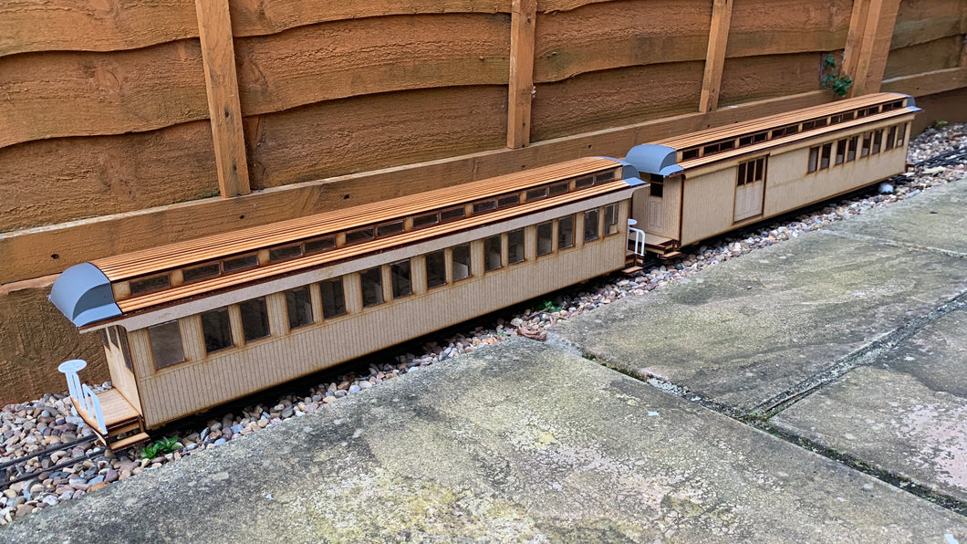 16mm Scale Sandy River and Rangeley Lakes Railroad Passenger Car Multipack