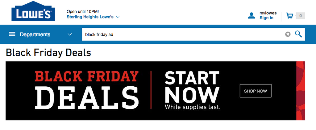 Black Friday ad, Black Friday deal, lowe's
