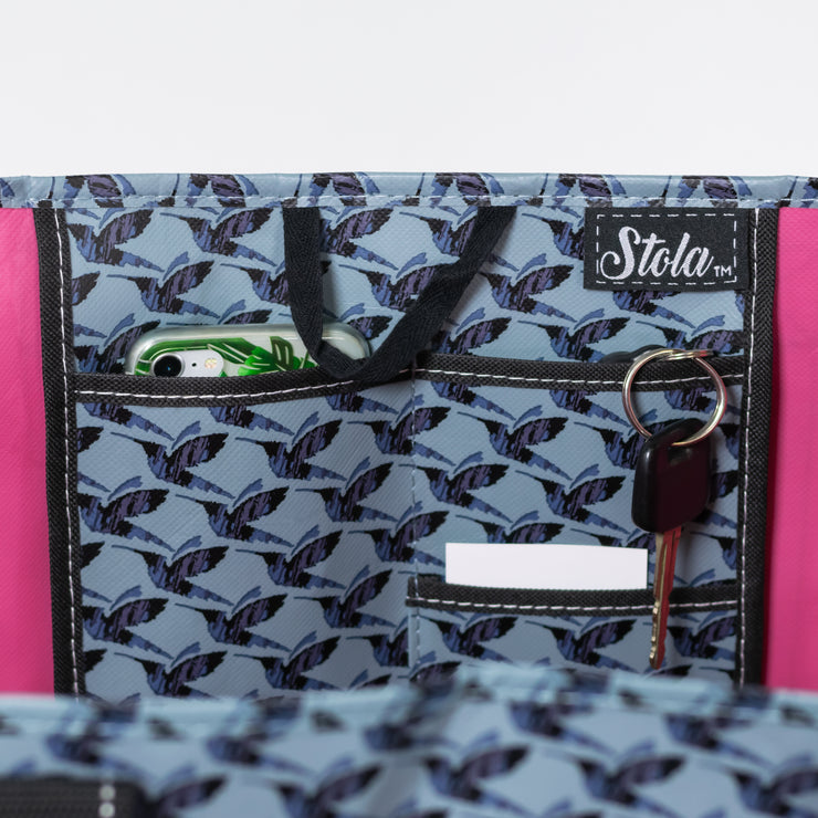 Overnight Tote - Hummingbird Houndstooth