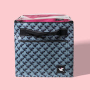 Full Bin with Lid - Hummingbird Houndstooth