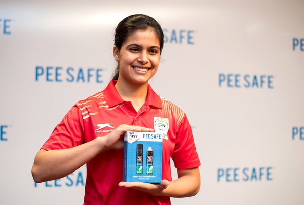 Gold Medalist Manu Bhaker becomes the new face of Pee Safe.