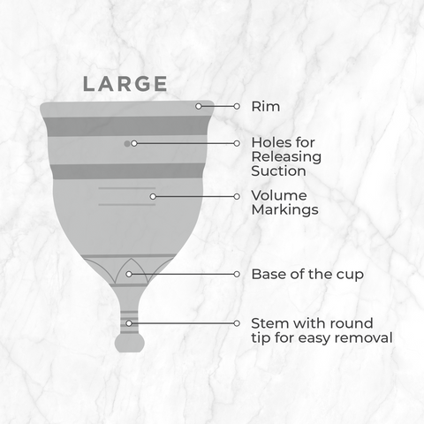 large size of menstrual cup