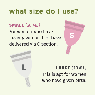 What size to be used for Menstrual Cup by Pee Safe