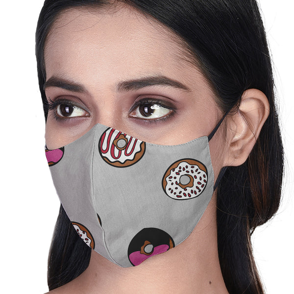 Donut 3 Layered Printed Cloth Mask