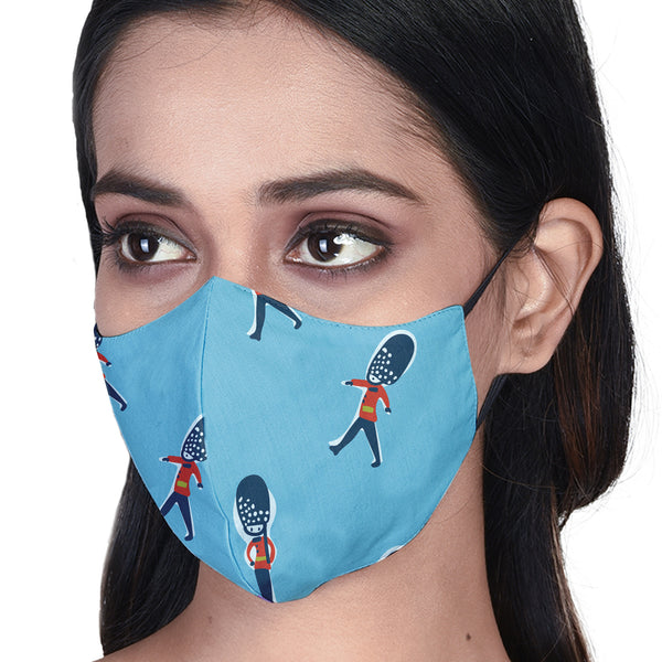 Queen's Guard 3 Layered Printed Cloth Mask